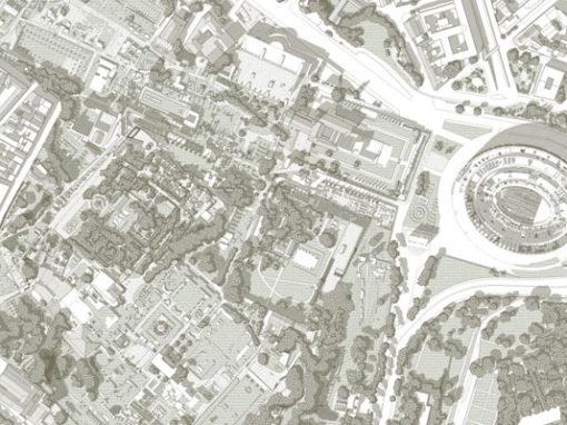 A. Benazzo, N. Petrucci, T. Delia | ROMA QUADRATA.Ridefinizione e tracciatura del Pomerio tra recinto romuleo e progetto domizianeo