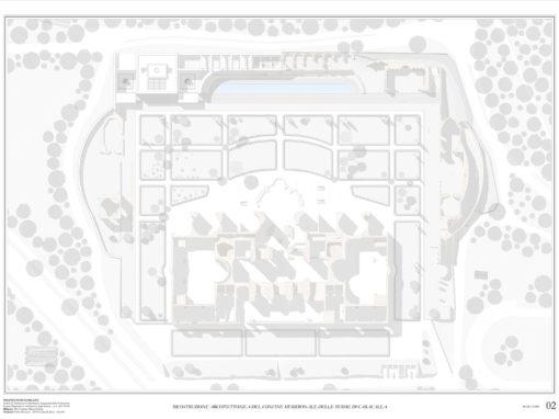 D.Rizzi, P.Brunazzi | RICOSTRUZIONE ARCHITETTONICA DEL CONFINE MERIDIONALE DELLE TERME DI CARACALLA